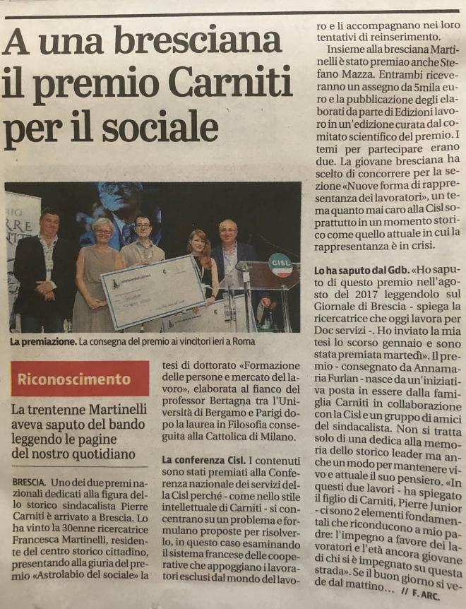 Premio Carniti - Francesca Martinelli